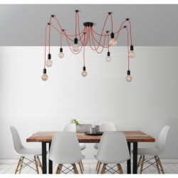 FilamentStyle Spider Lamp 9 Globes Suspension