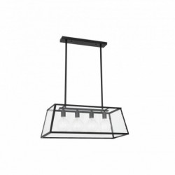 Lampe suspension FARO ROSE  télescopique noire 4X E27