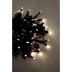 PLAYLIGHT LED 10m 8W guirlande de Noël blanc chaud - fil noir