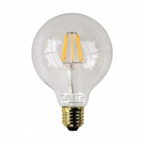 BELUCCA GLOBE A95 LED 6,5W 2700K E27 - BC_FILGL956W