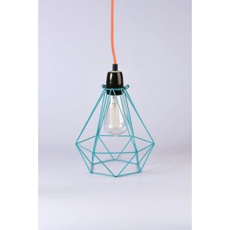 Lampe à poser FilamentStyle Diamond 1 bleu