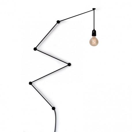 Suspension FilamentStyle Snake Lamp noir fond blanc