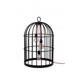 Lampe à poser FilamentStyle XL Bird Cage sur fond blanc