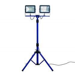 AS-Schwabe projecteurs LED 2x30W 4000K  sur trépied (avec coffret de transport)