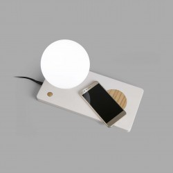 FARO NIKO LED Lampe table blanche