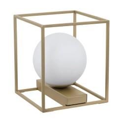 Eglo Vallaspra- référence 97794 - lampe de table moderne couleur champagne