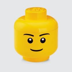 TÊTE DE RANGEMENT LEGO L - GARÇON réf.4032 - vue de face
