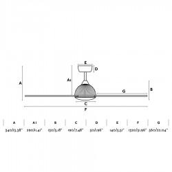 FARO GRID Ventilateur de plafond noir