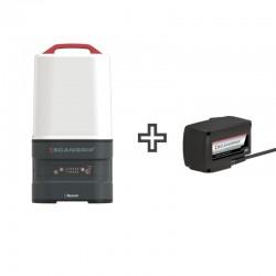 Projecteur portable LED Scangrip Area CAS - 03.6135 - vue de face - avec l'alimentation scangrip