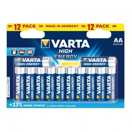 Varta High Energy Piles Alcalines AA LR06 x 12