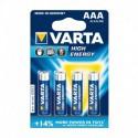 Varta High Energy Piles Alcalines AAA LR03 x 4