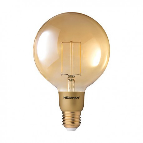 MEGAMAN GLOBE A125 GOLD LED FILAMENT 3W 2200K E27